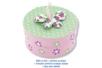 Fleurs en tissu molletonné vichy - 8 pièces - Motifs en tissu molletonné – 10doigts.fr