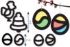 Trames vitrail pré-découpées - Noël et Pâques - Kits et Activités de Noël – 10doigts.fr