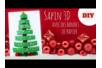 Sapin 3D avec des bandes de papier - Carterie – 10doigts.fr