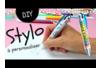 Stylo à personnaliser - Décoration d'objets – 10doigts.fr