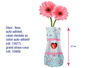 Vase souple à décorer - Plastique Transparent – 10doigts.fr