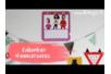 Calendriers d'anniversaires à décorer - Lot de 6 - Accessoires de bureau – 10doigts.fr
