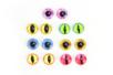 Yeux en verre - Set de 14 - Yeux à coller et à piquer – 10doigts.fr