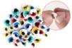 Yeux mobiles adhésifs colorés avec cils - Set de 48 - Yeux mobiles - 10doigts.fr