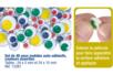 Yeux mobiles colorés adhésifs - Set de 48 - Yeux mobiles adhésifs – 10doigts.fr