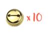 Grelots dorés Ø 3 cm - 10 pièces - Grelots et clochettes 10477 - 10doigts.fr