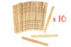 Bâtonnets en bois naturel - 10 lots de 50 - Bâtonnets, tiges, languettes 30093 - 10doigts.fr