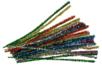 Chenilles multicolores - Set de 100 - Chenilles, cure-pipe 04521 - 10doigts.fr