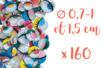 Yeux mobiles colorés avec cils Ø 7 mm - 1 cm et 1,5 cm - 160 yeux - Yeux mobiles 03897 - 10doigts.fr
