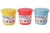 Pâtes à modeler GIOTTO Bé-Bé - 220 gr - 3 pots : rouge, jaune, bleu - Modelage 1er âge 10700 - 10doigts.fr