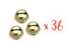 Grelots dorés Ø 1,8 cm - 36 pièces - Grelots et clochettes 08573 - 10doigts.fr