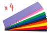 4 sets de 10 feuilles de papier crépon 2 mètres x 50 cm 10 couleurs assorties - Papiers de crépon 06033 - 10doigts.fr
