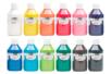 Acryl Brillant 250 ml - Maxi lot des 12 couleurs - Acryliques scolaire 31104 - 10doigts.fr