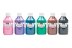 Acryl Opak 250 ml - set de 6 couleurs complémentaires : rose, violet, bleu foncé, vert foncé, marron, noir - Acryliques scolaire 31099 - 10doigts.fr