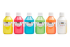 Acryl Opak 250 ml - set de 6 couleurs de base : jaune, rouge, bleu clair, vert clair, orange, blanc - Acryliques scolaire 31098 - 10doigts.fr