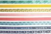 Rubans tissu adhésifs, motifs assortis - 8 bandes - Rubans et cordons - 10doigts.fr