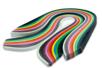 Bandes Quilling 34 cm, 14 couleurs assorties (largeurs :  0,4 cm et  0,8 cm) - 280 bandes - Activités en papier 14528 - 10doigts.fr