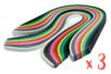 Bandes Quilling (x 840) - Longueur : 34,5 cm - 420 bandes de 4 mm et 420 de 8 mm - 14 couleurs - Quilling, paperolles 14889 - 10doigts.fr