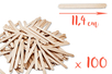 Bâtons d'esquimaux en bois (11,4 cm) - Lot de 100 - Bâtonnets, tiges, languettes - 10doigts.fr