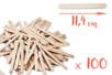 Bâtons d'esquimaux en bois (11,4 cm) - Lot de 100 - Bâtonnets, tiges, languettes 14924 - 10doigts.fr