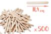 Bâtons d'esquimaux en bois (11,4 cm) - Lot de 500 - Bâtonnets, tiges, languettes 14922 - 10doigts.fr