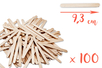 Bâtons d'esquimaux en bois (9,3 cm) - Lot de 100 - Bâtonnets, tiges, languettes - 10doigts.fr