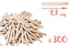 Bâtons d'esquimaux en bois (9,3 cm) - Lot de 300 - Bâtonnets, tiges, languettes - 10doigts.fr