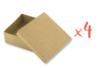 Boîtes carrées 9 x 9 cm - H : 5 cm - Lot de 4 - Boîtes en carton 12129 - 10doigts.fr
