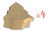 Boîtes sapin 10 x 11 cm - H : 3,5 cm - Lot de 4 - Boîtes en carton 12076 - 10doigts.fr