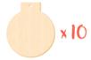 Boule de Noël en bois avec trou - Lot de 10 - Motifs bruts 13824 - 10doigts.fr
