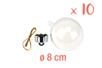 Boules en plastique transparent 3 en 1 : ø 8 cm - Lot de 10 - Plastique Transparent - 10doigts.fr