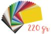 Cartes fortes (25 x 35 cm) 220 gr/m²,25 couleurs - 25 feuilles - Papiers épais - 10doigts.fr