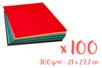 Cartes 300 gr/m²  Mix 25 couleurs - 100 feuilles A4 - Papiers Format A4 03158 - 10doigts.fr