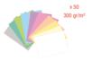 Cartes épaisses 300 gr (10 couleurs pastel) - 50 feuilles A4 - Kirigami - 10doigts.fr