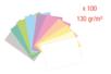 Cartes légères 130 gr (10 couleurs pastel) - 100 feuilles A4 - Kirigami 08185 - 10doigts.fr