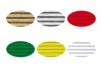 Carton ondulé  50 x 70 cm - 6 rouleaux assortis (or, argent, rouge, vert foncé, jaune citron et blanc) - Carton ondulé 12249 - 10doigts.fr
