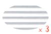 Carton ondulé 50 x 70 cm blanc - 3 rouleaux - Carton ondulé 12234 - 10doigts.fr