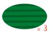 Carton ondulé 50 x 70 cm vert foncé - 3 rouleaux - Carton ondulé 12330 - 10doigts.fr