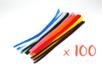 Chenilles colorées 30 cm - Ø 6 mm - Set de 100 - Chenilles, cure-pipe - 10doigts.fr