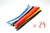 Chenilles colorées 30 cm - Ø 6 mm - Set de 24 - Chenilles, cure-pipe - 10doigts.fr