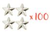 Clous étoiles Argentés - Lot de 100 clous - Strass et clous 19293 - 10doigts.fr