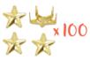 Clous étoiles Dorés - Lot de 100 clous - Strass et clous 19295 - 10doigts.fr