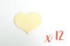 Coeurs en bois (6 x 4.8 cm - Ep. 3 mm) - 12 pièces - Motifs bruts 06195 - 10doigts.fr