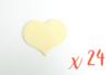 Coeurs en bois (6 x 4.8 cm - Ep. 3 mm) - 24 pièces - Motifs bruts 06486 - 10doigts.fr