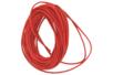 Cordon en cuir Rouge - ø 1 mm  - Cordons en cuir et suédine 11724 - 10doigts.fr