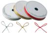 Cordons polyester métallisés - Set de 3 bobines : argent, or, rouge - Fils métallisés et câbles 11500 - 10doigts.fr
