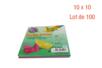 Feuilles carrées 10 x 10 cm - Lot de 100 - Papiers Origami 14420 - 10doigts.fr
