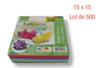 Feuilles carrées 15 x 15 cm - Lot de 500 - Papiers Origami 01706 - 10doigts.fr