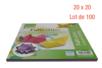 Feuilles carrées 20 x 20 cm - Lot de 100 - Papiers Origami 14423 - 10doigts.fr