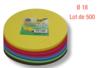 Feuilles rondes ø 18 cm - Lot de 500 - Papiers Origami 01704 - 10doigts.fr